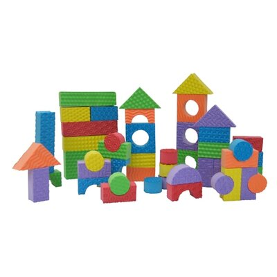 edushape Textured Blocks - 80 Pieces