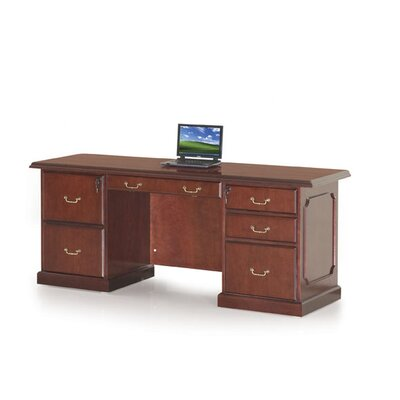 Absolute Office Heritage Kneespace Credenza with Center Drawer
