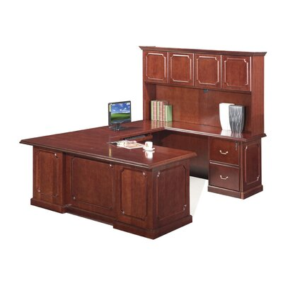 Absolute Office Heritage U-Shaped Executive Desk-Reversible