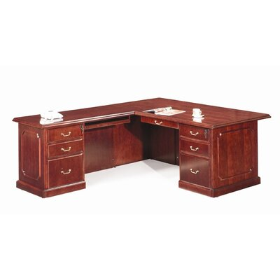 Absolute Office Heritage L-Shaped Reception Executive Desk with Return