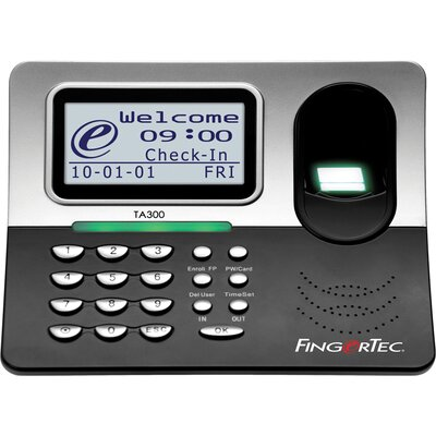 Fingertec USA Time and Attendance USB Time Clock with Fingerprint and Battery Backup
