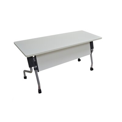 Winport Industries Flip-Top Nesting Table in White / Silver
