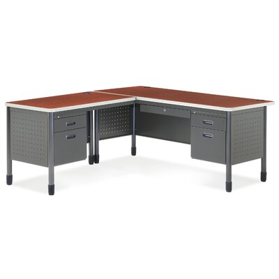 OFM Executive Series Secretarial Desk with Optional Return