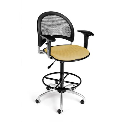 OFM Height Adjustable Swivel Stool with Gas Lift