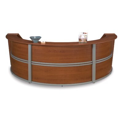 OFM Reception Furniture Triple Unit Curved Station