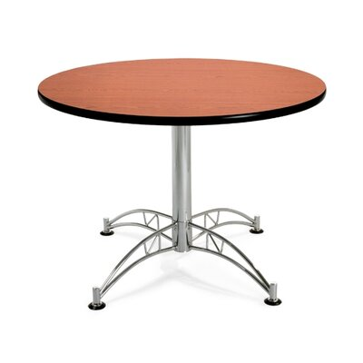 "OFM 42"" Round Multi-Purpose Polished Aluminum Table"