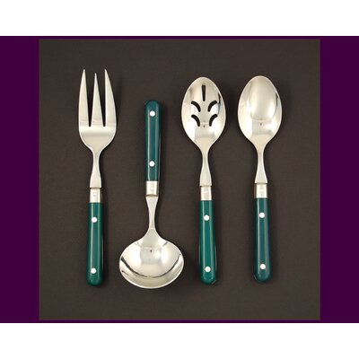 Stainless Steel LePrix 4 Piece Hostess Set in Green