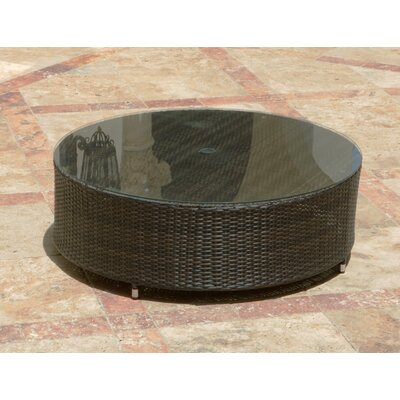 Source Outdoor Circa Round Coffee Table with Umbrella Hole