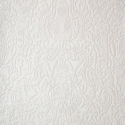 York Wallcoverings Barbara Becker Raised Surface Damask Wallpaper