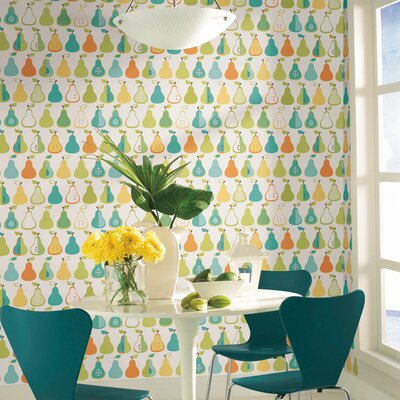 York Wallcoverings Bistro 750 Kitchen Pears Prepasted Wallpaper