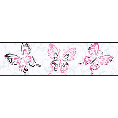 York Wallcoverings Candice Olson Kids Butterfly Scroll Border