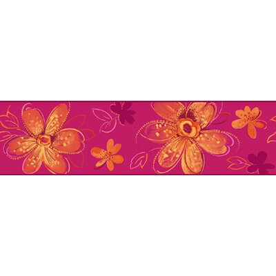 York Wallcoverings Candice Olson Kids Bohemian Floral Border