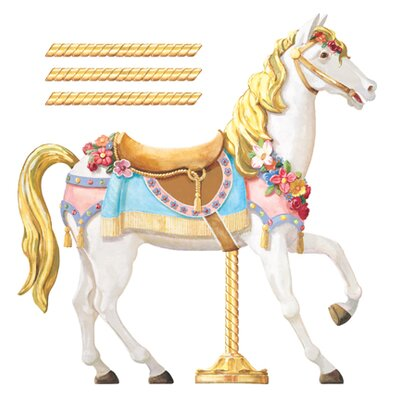 York Wallcoverings York Kids IV Carousel Horse Wall Mural