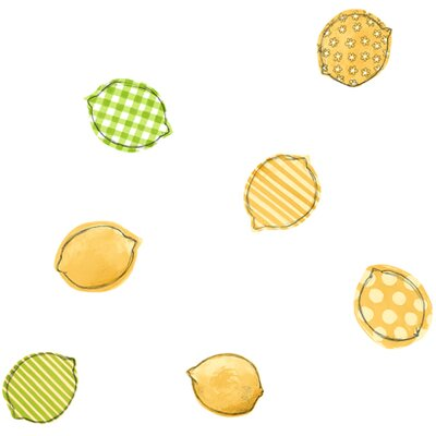 York Wallcoverings Bistro 750 Printed Lemons Prepasted Wallpaper
