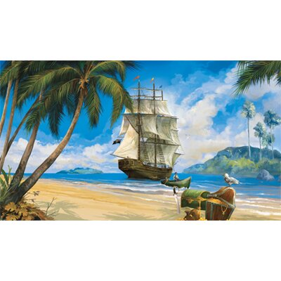 York Wallcoverings York Kids IV Pirate Full Wall Mural