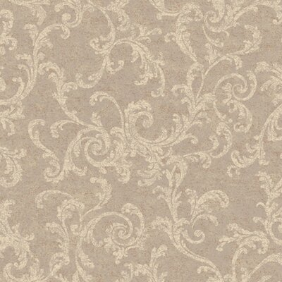 York Wallcoverings Proper English Textured Scroll Wallpaper