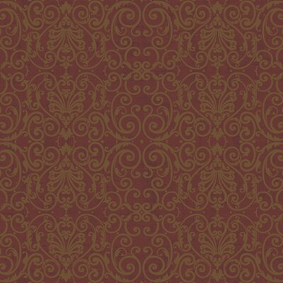 York Wallcoverings Proper English Tuscan Fine Scroll Wallpaper