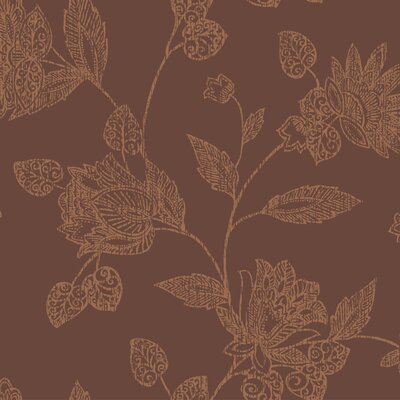 York Wallcoverings Tommy Bahama Jacobean Block Print Unpasted Wallpaper