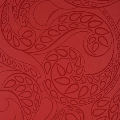 York Wallcoverings Barbara Becker Raised Surface Tear Drop Paisley Wallpaper