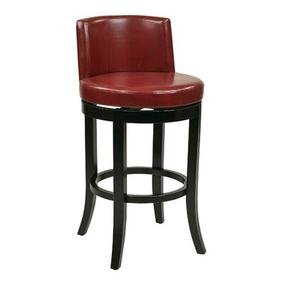 OSP Designs Swivel Eco Leather Barstool