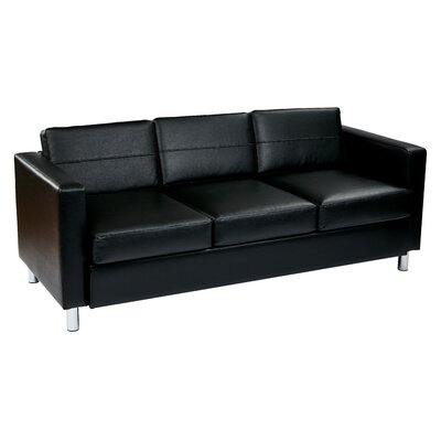 Pacific Faux Leather and Vinyl Fabric Sofa