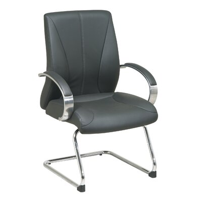 Office Star Products ProLine II Deluxe Leather Visitors Chair