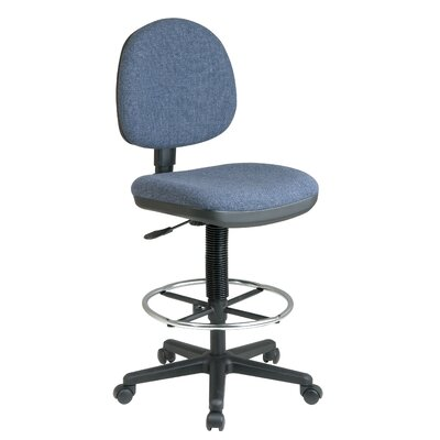 Height Adjustable Drafting Chair with Lumbar Support