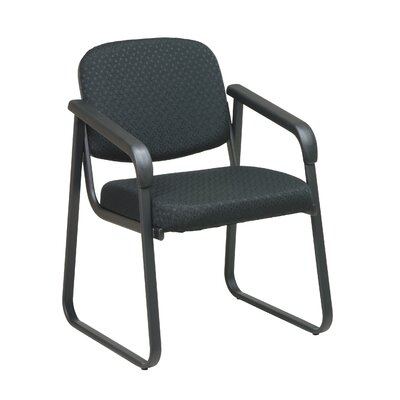 Office Star Products Deluxe Sled Base Guest Arm Chair with Shell Back