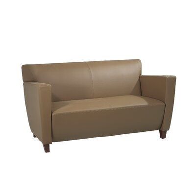 Office Star Products Leather Love Seat