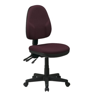 Office Star Products Mid-Back Dual Function Ergonomic Office Chair with Adjustable Arms