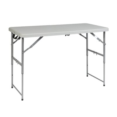 Office Star Products 4' Height Adjustable Fold in Half Resin Multi Purpose Table