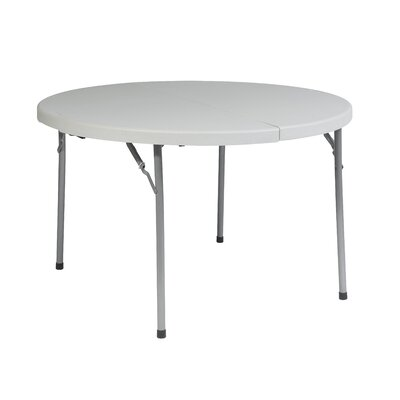 "Office Star Products 48"" Round Fold in Half Resin Multi Purpose Table"