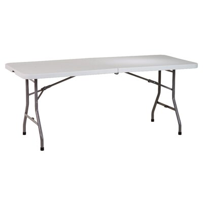 Office Star Products 6' Resin Multi Purpose Center Fold Table with Wheels
