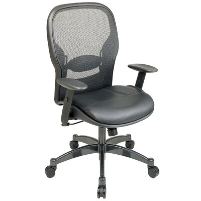 Office Star Products SPACE Matrex Mid-Back Mesh Managerial Chair with Arms