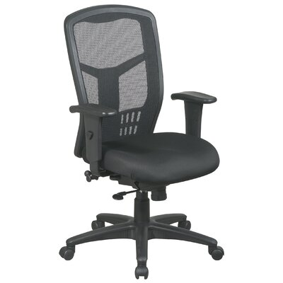 Office Star Products ProLine II ProGrid High-Back Managerial Chair with Arms
