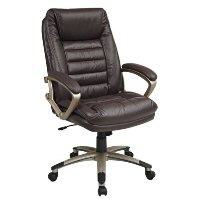 """Office Star Products 25"""" Back Leather Executive Chair"""