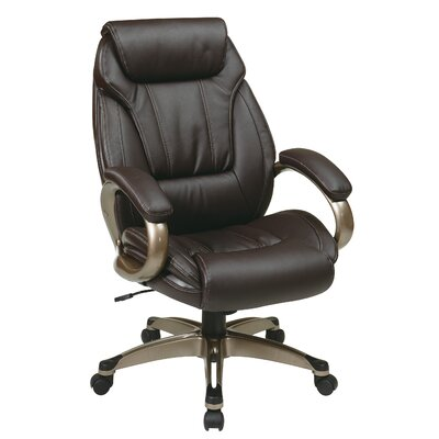 Office Star Products Work Smart Eco Leather Executive Chair
