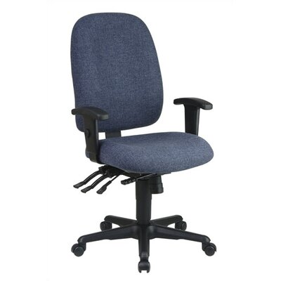 Office Star Products Ergonomic Mid-Back Office Chair with Adjustable Soft Padded Arms