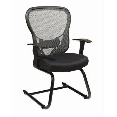 Office Star Products Deluxe R2 SpaceGrid® Back Mesh Seat Visitors Chair with Fixed Arms