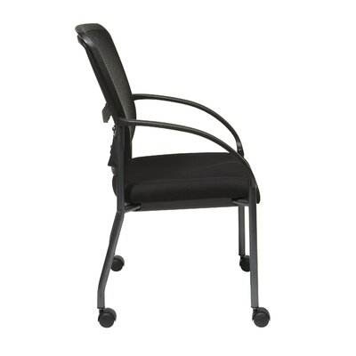 Office Star Products ProGrid Back Visitors Chair with Casters