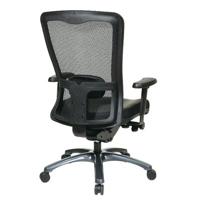 Office Star Products ProGrid High Back Leather Chair