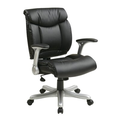 Office Star Products Mid-Back Eco Leather Executive Office Chair