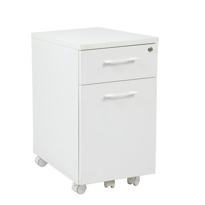 Office Star Products Prado Mobile File with Hidden Drawer and Casters