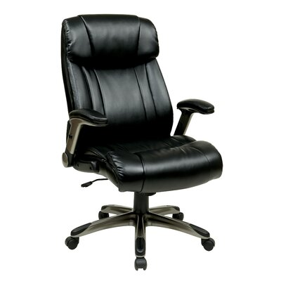 Office Star Products Eco Leather Executive Office Chair with Arms