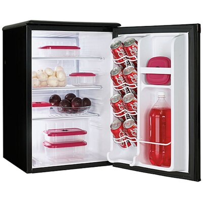 Designer 2.5 Cubic Foot Compact All Refrigerator in Black