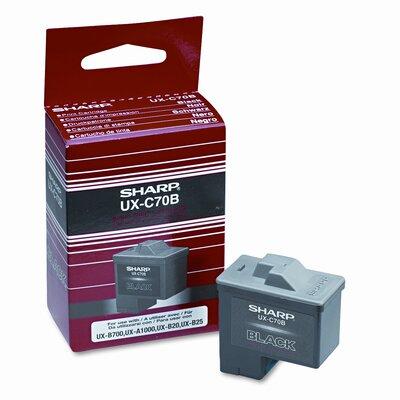 Sharp UXC70B Inkjet Cartridge, Black