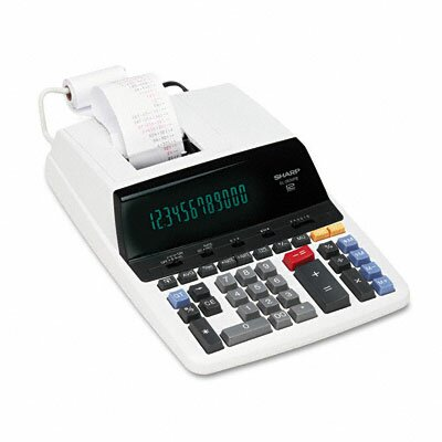 EL-2630PIII Desktop Calculator, 12-Digit Fluorescent, Two-Color Printing