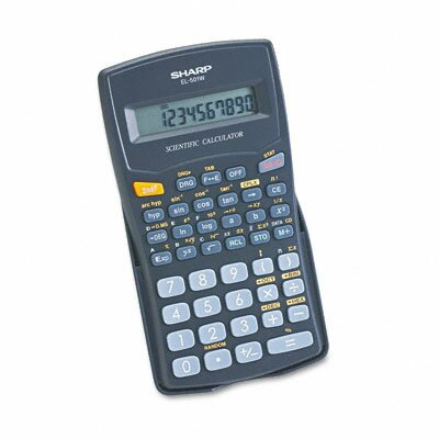 Sharp EL-501WBBK Scientific Calculator, 10-Digit LCD