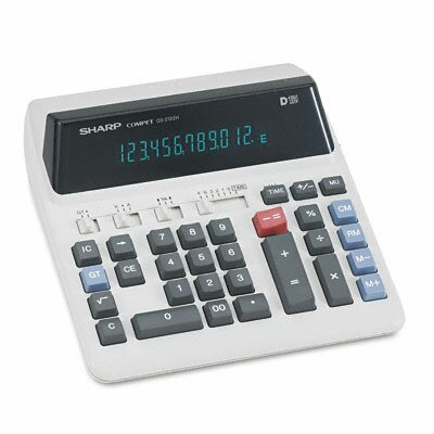 QS-2122H Compact Desktop Calculator, 12-Digit Fluorescent