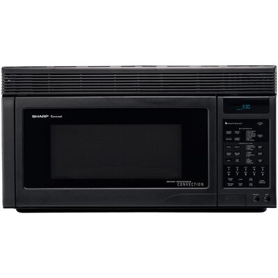 Sharp 850W Over the Range Convection Microwave Oven in Black